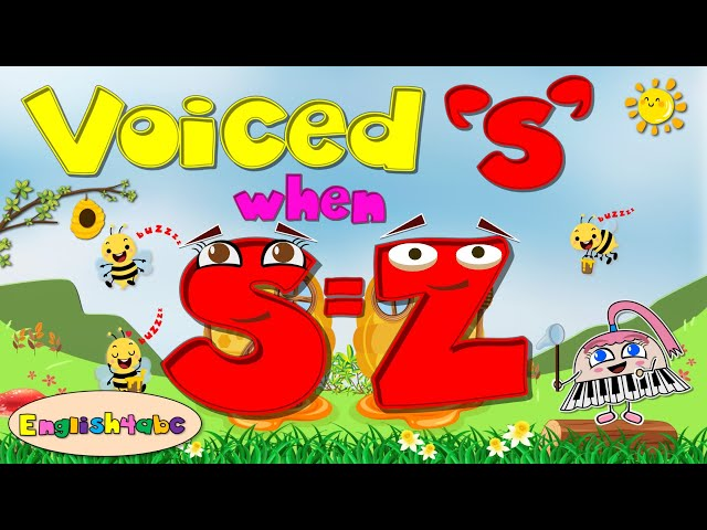 Voiced s / When 's' sounds like 'z' / Long Vowels / Phonics Song