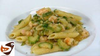 Pasta zucchine e gamberetti - primi piatti veloci (zucchini pasta and shrimp)