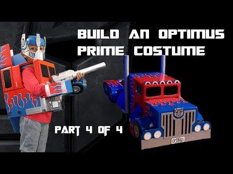 Make an Optimus Prime Cardboard Costume part 4 of 4 - DIY Tutorial