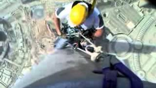 View From - At The Top - Burj Khalifa Abseil 1-- Mick Flaherty