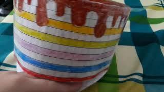 Cách làm squishy giấy 3d bánh kem phần 2_Ngọc Thủy Channel