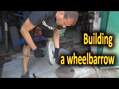 Wheelbarrow homemade. Building a wheelbarrow