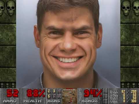 doom guy face hud