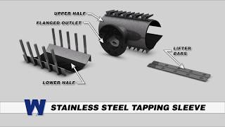 Stainless Steel Tapping Sleeve  -  WaterworksTraining.com