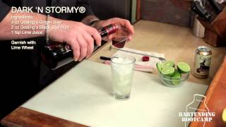 How To Make A Dark 'n Stormy Cocktail - Bartending Bootcamp