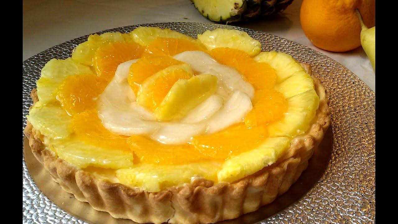Tarta De Fruta Con Crema Pastelera Youtube