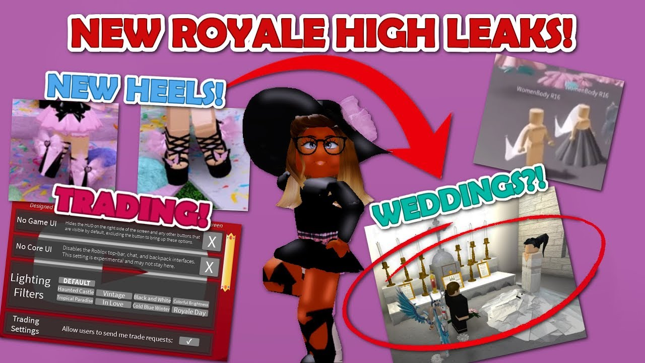 Ashley Roblox Royale High Roblox Royale High Leaks New Inventory New Heels Trading Progress And Weddings Youtube