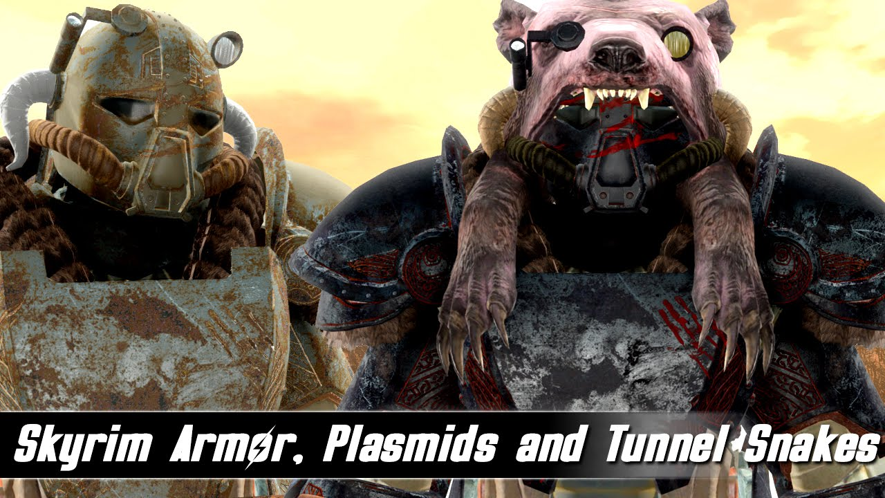 Fallout 4 Mods Week 30 - Skyrim Armor, Plasmids and Tunnel Snakes