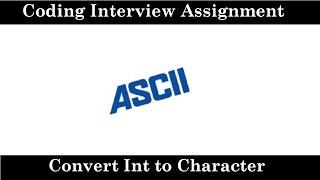 IQ 43: Convert an int to character