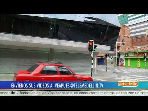 Intervienen semáforos en el centro de Medellín sin autorización ¡Vea pues!