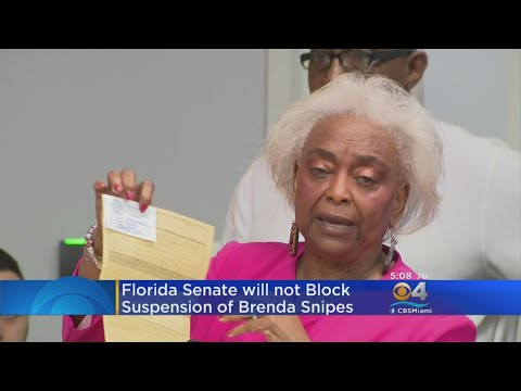 Florida Senate To Stay Out Of Fight Over Brenda Snipes' Job