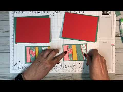 Talkin' on Tuesday @ 2 - By popular request:  Angled Strip Piecing with Christmas designer paper!!