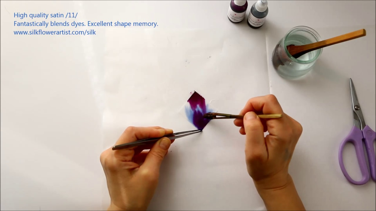 Silk Flower Making High Quality Satin 11 Youtube