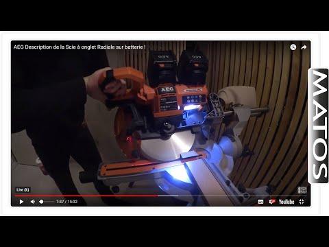 #1 ☢️MATOS☢️ Scie à onglets radiale Brushless AEG 18V Ø 254 mm BPS18-254BL Description avec Seb !