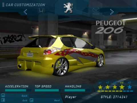 NFSU - Peugeot 206 Tuning - YouTube