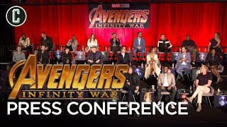 Watch the Avengers: Infinity War Press Conference with Jeff Goldblum as Moderator