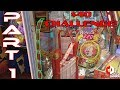 Part 1 of 2 | $40 Coin Pusher Challenge! | Ticket Circus at Six Flags Arcade | Bonus Jackpot Wins!