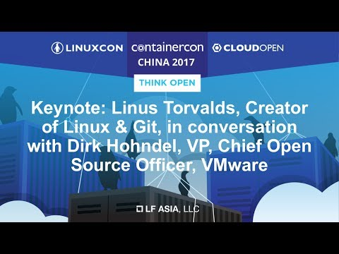 Keynote: Linus Torvalds, Creator of Linux & Git, in conversation with Dirk Hohndel, VP, VMware
