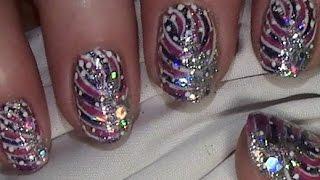 Funkelnde Silvesternägel Nageldesign für kurze Nägel New Year 39 s eve nail art