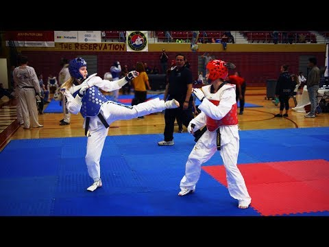 How to Beat a Front Leg Fighter (TKD SPARRING)