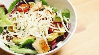 Simple Green Salad with Chicken | Простой Зеленый Салат с Курицей