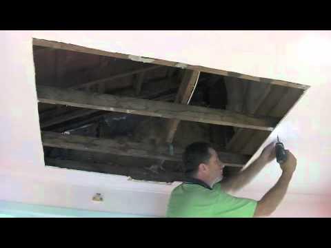 Water Damagedrywall Plaster Ceiling Repair Part One You