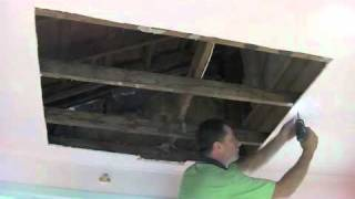 Water DamageDrywall Plaster Ceiling Repair - Part One