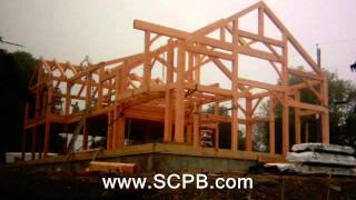 Timber Frame Raising In Snug Harbor, Rhode Island
