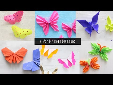 6 Easy DIY Paper Butterfly | Paper Craft
