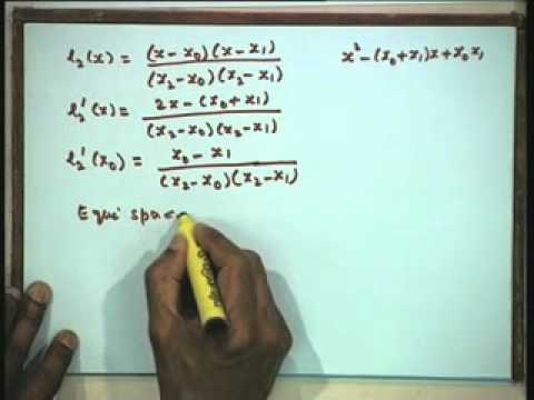 Lec-34 Numerical Differentiation and Integration-Part-1