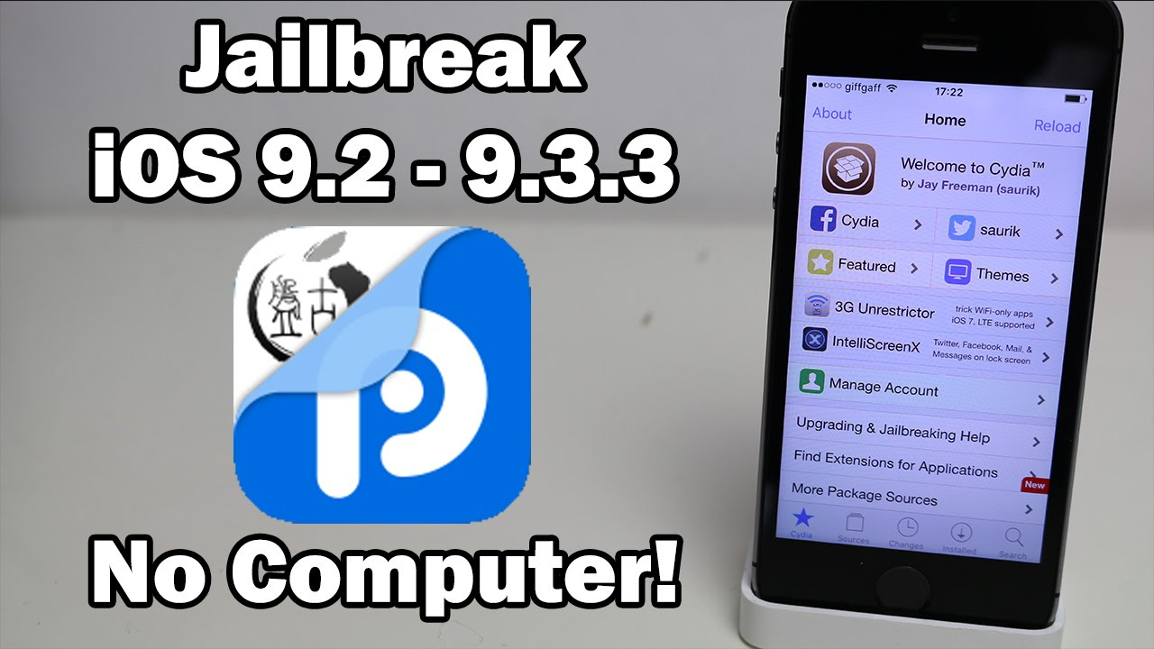 How to Jailbreak iOS 9.3.3 / 9.3.2 / 9.3.1 Without a Computer on