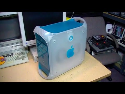 Trash-picked Apple Power Macintosh G3 blue & white