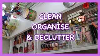 CLEAN, ORGANISE & DECLUTTER MY BEAUTY ROOM WITH ME! SoJo Beauty