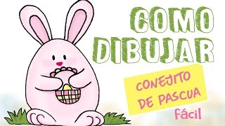 Como dibujar un conejo de pascua / how to draw a easter bunny