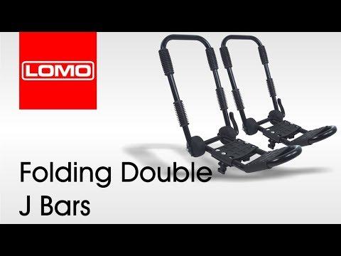 Folding Double J Bars - Kayak Roof Rack Bars