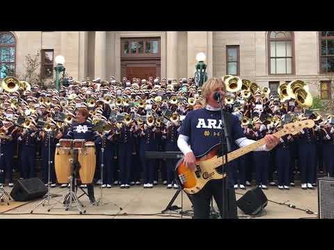 Chicago with Notre Dame Marching Band  Saturday in the Park Oct 2017