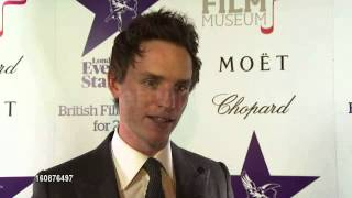Eddie Redmayne - Les Miserables and award season London Evening Standard Film Awards 2013