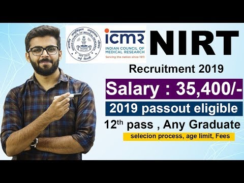 ICMR NIRT Recruitment | Salary 35,400 | Assistant Group B | 12th Pass, Any Graduate | Latest Jobs