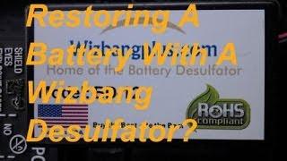 Restoring a sla battery explosion