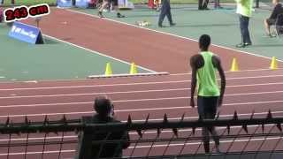 Mutaz Barshim 243 cm - High Jump - Brussels 2014 IAAF Diamond League