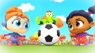 футбольная песня | Детские стишки | игры на открытом воздухе песня | супер герои | Soccer Song