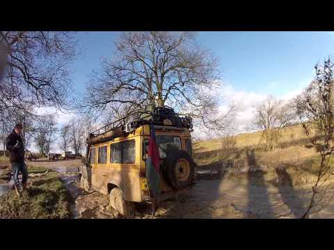 Salisbury Plain with the Camel Trophy group