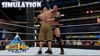 WWE 2K16 SIMULATION: The Rock vs John Cena | Wrestlemania 29 Highlights