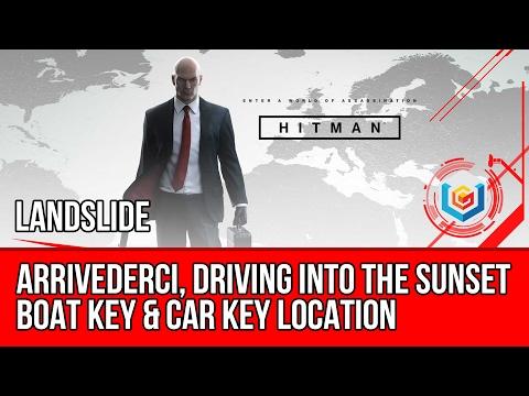 Hitman - Boat Keys & Car Keys - Arrivederci, Driving Into The Sunset Challenge Guide (Landslide)