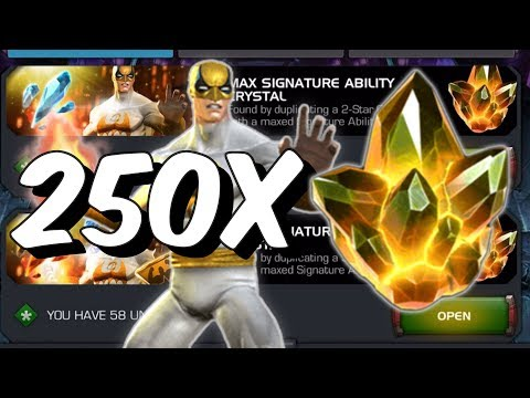 250x Max Signature Ability Crystal Opening - Immortal Iron Fist?! - Marvel Contest Of Champions