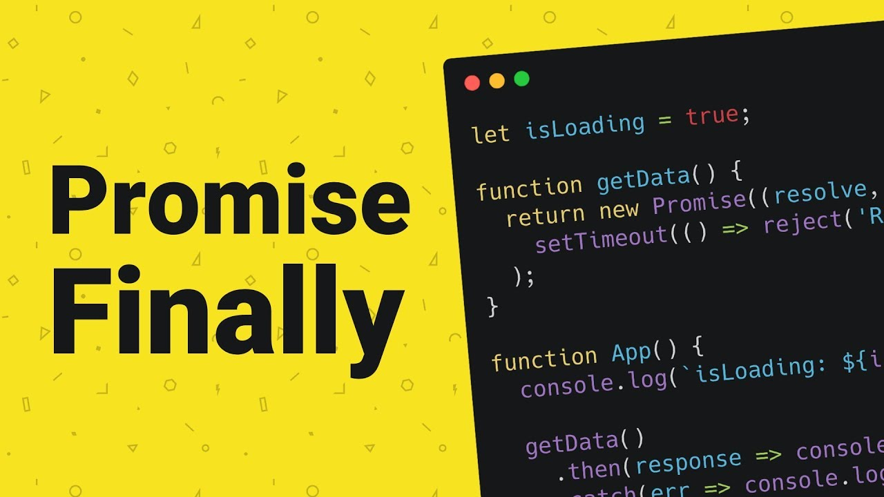 How to use Promise.prototype.finally