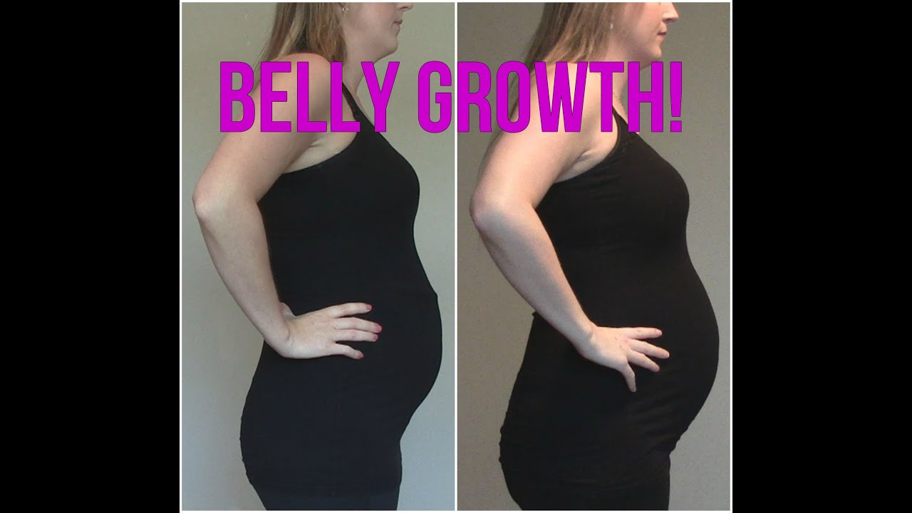 Second trimester belly growth progression youtube for Gardening while pregnant
