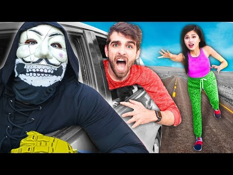 TRAPPED IN HACKER CAR! SPY NINJAS Spending 24 Hours Searchin