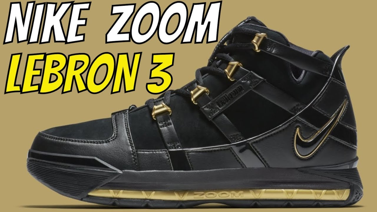 280b0be76d9 LEBRON JAMES S NIKE ZOOM LEBRON 3 BLACK   Metallic Gold UNBOXING ...