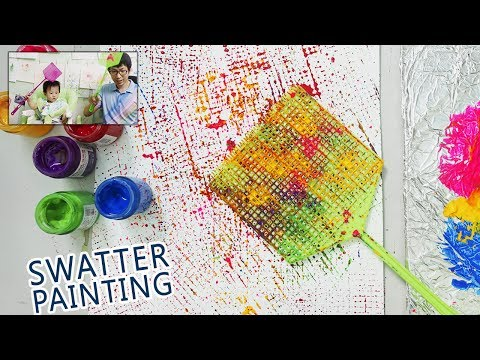 Swatter Painting Technique for Kids   Basic art step by step